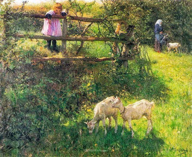 百年前的田园生活,比利时画家Evariste Carpentier插图9
