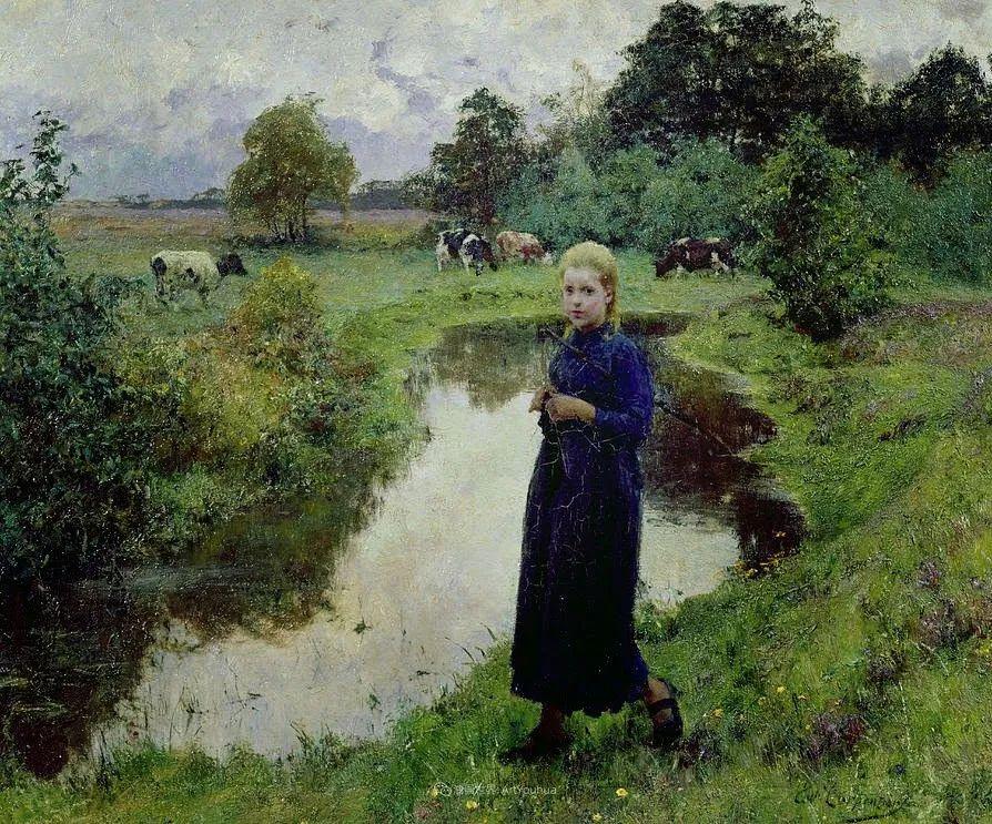 百年前的田园生活,比利时画家Evariste Carpentier插图13
