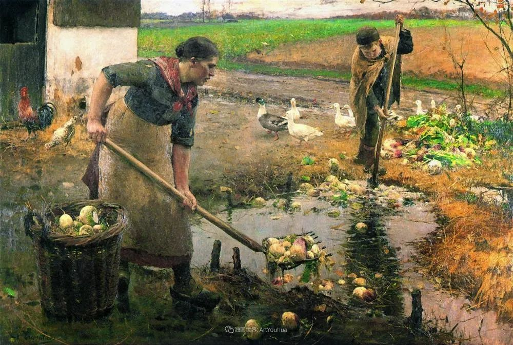 百年前的田园生活,比利时画家Evariste Carpentier插图17