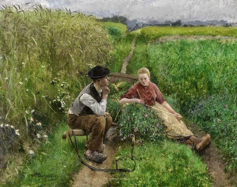 百年前的田园生活,比利时画家Evariste Carpentier插图19