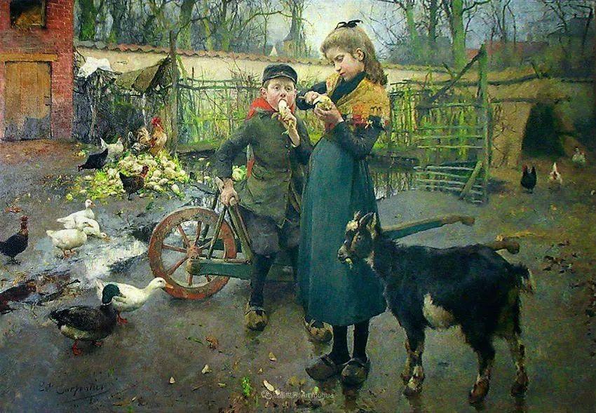 百年前的田园生活,比利时画家Evariste Carpentier插图21