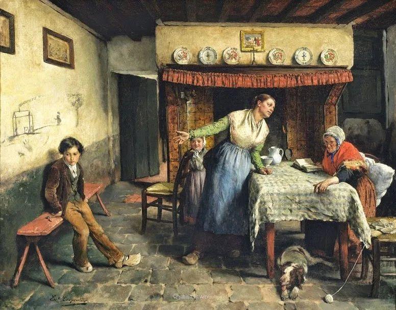 百年前的田园生活,比利时画家Evariste Carpentier插图23