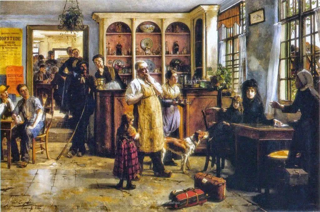 百年前的田园生活,比利时画家Evariste Carpentier插图25