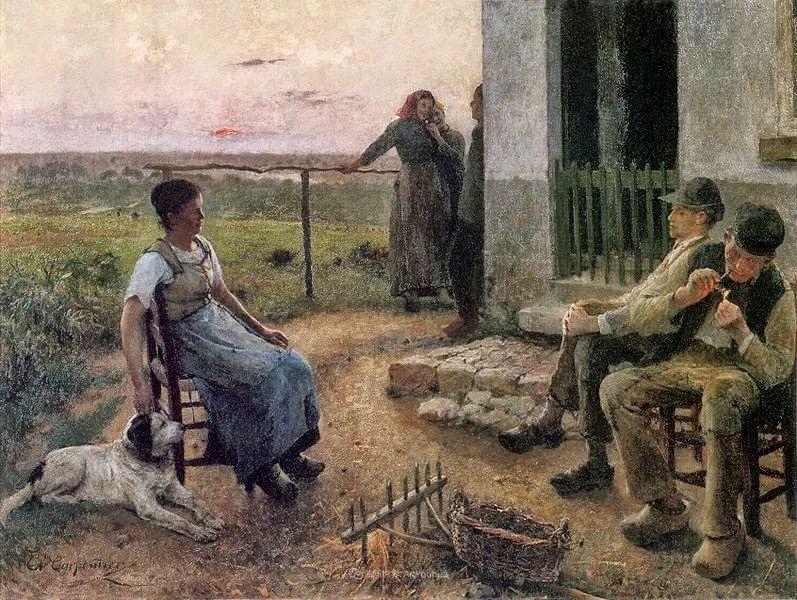 百年前的田园生活,比利时画家Evariste Carpentier插图27