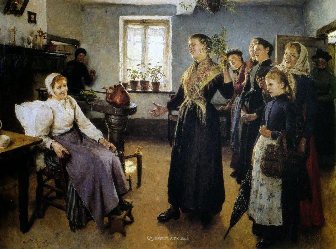百年前的田园生活,比利时画家Evariste Carpentier插图29
