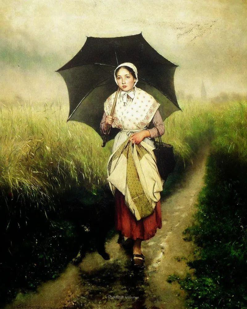 百年前的田园生活,比利时画家Evariste Carpentier插图33