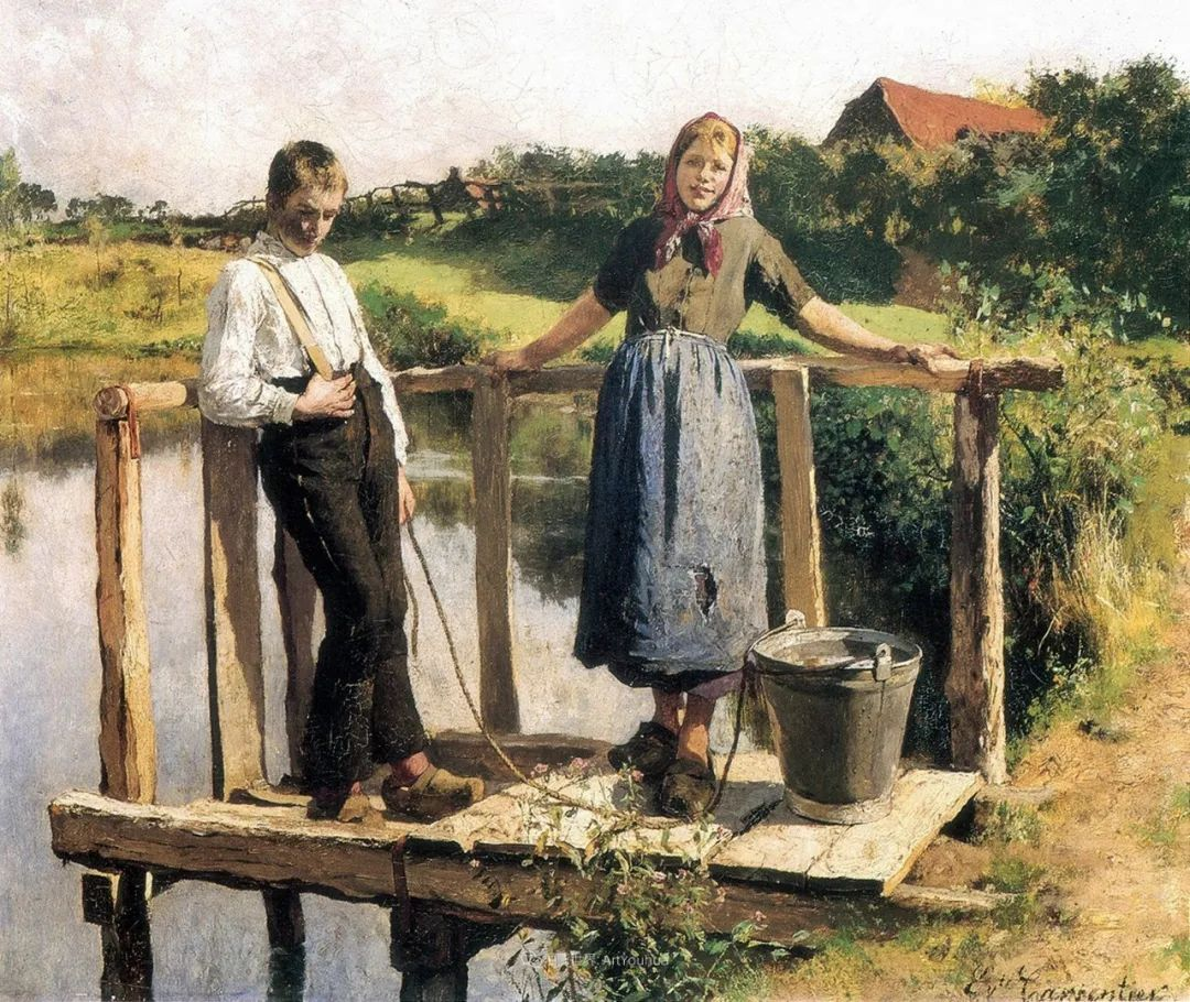 百年前的田园生活,比利时画家Evariste Carpentier插图47