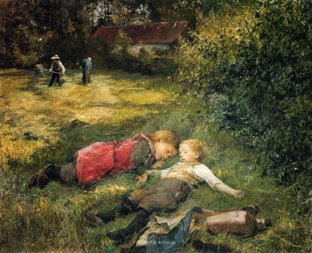 百年前的田园生活,比利时画家Evariste Carpentier插图49