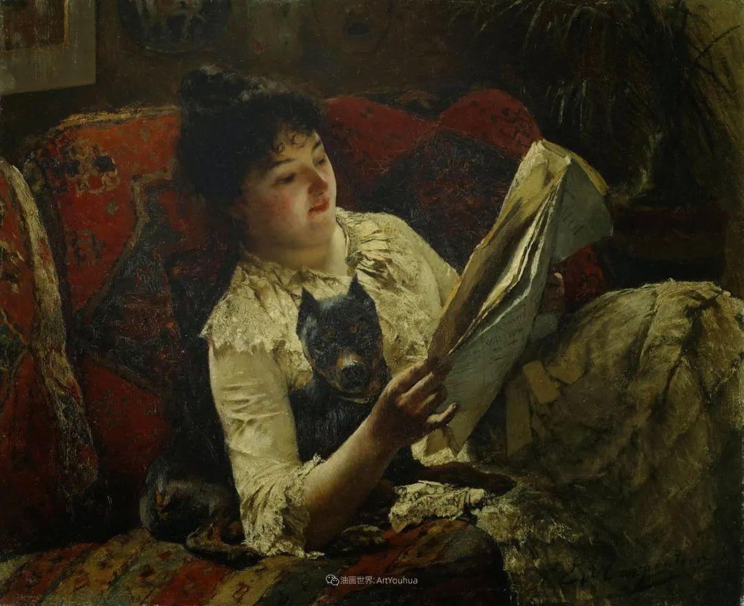 百年前的田园生活,比利时画家Evariste Carpentier插图55