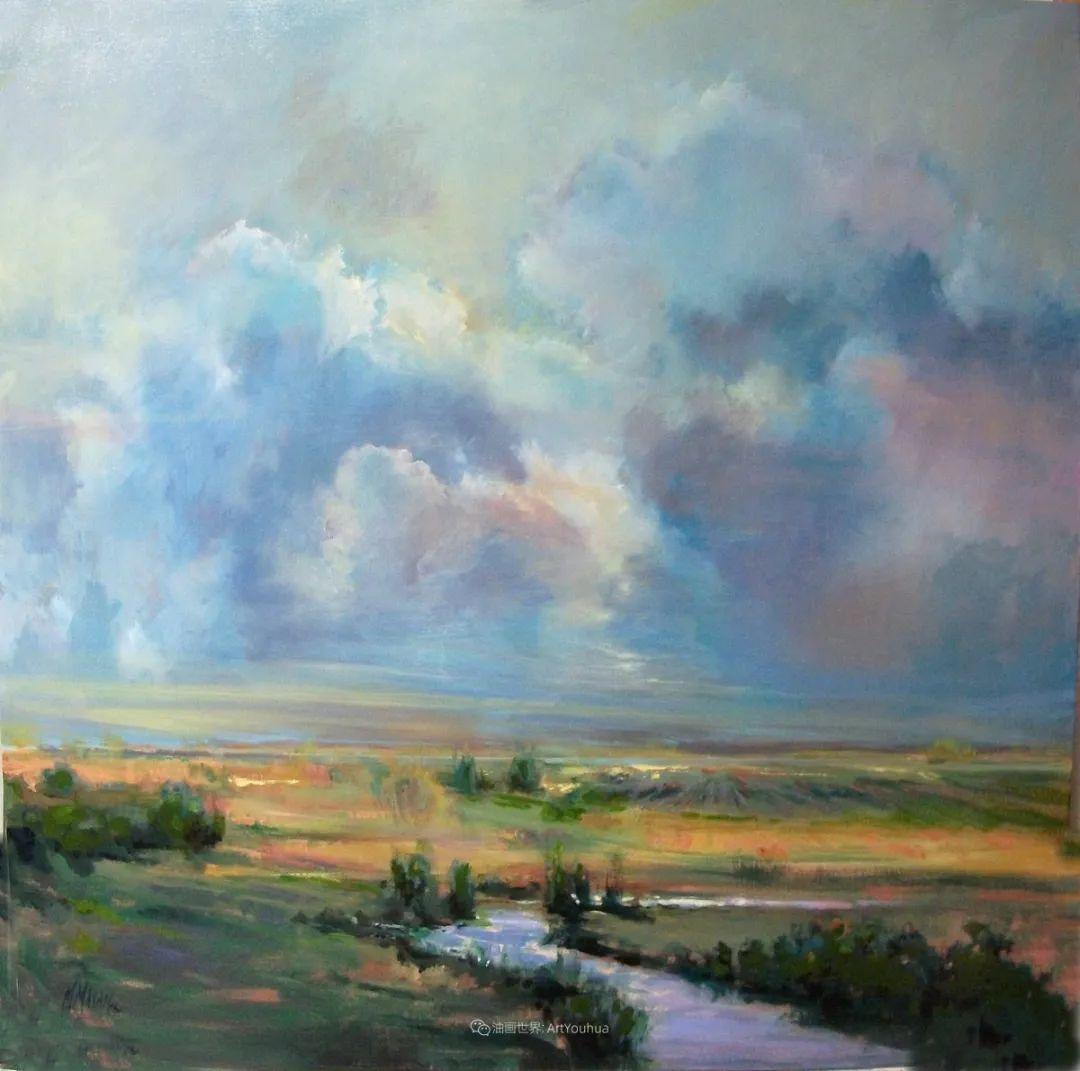 简约多彩的天空,Mary Maxam风景画选插图1