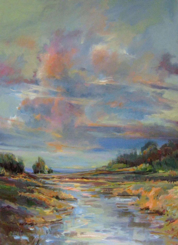 简约多彩的天空,Mary Maxam风景画选插图3