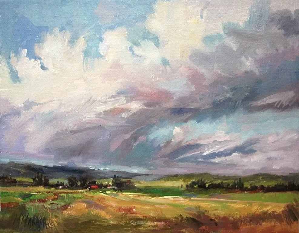 简约多彩的天空,Mary Maxam风景画选插图5