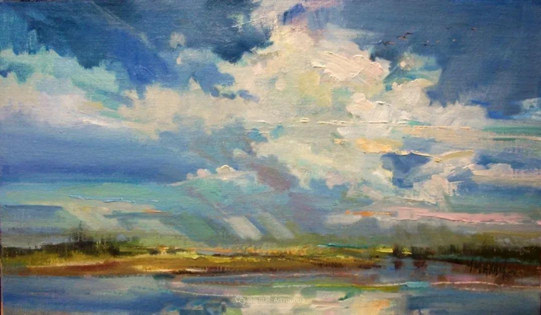 简约多彩的天空,Mary Maxam风景画选插图7