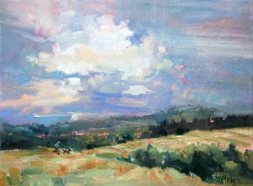 简约多彩的天空,Mary Maxam风景画选插图9