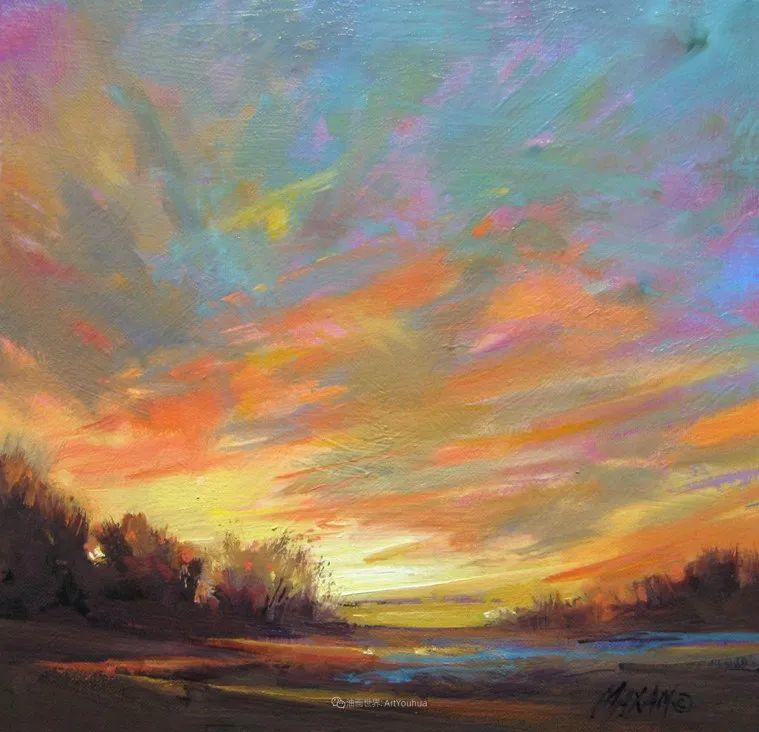 简约多彩的天空,Mary Maxam风景画选插图11