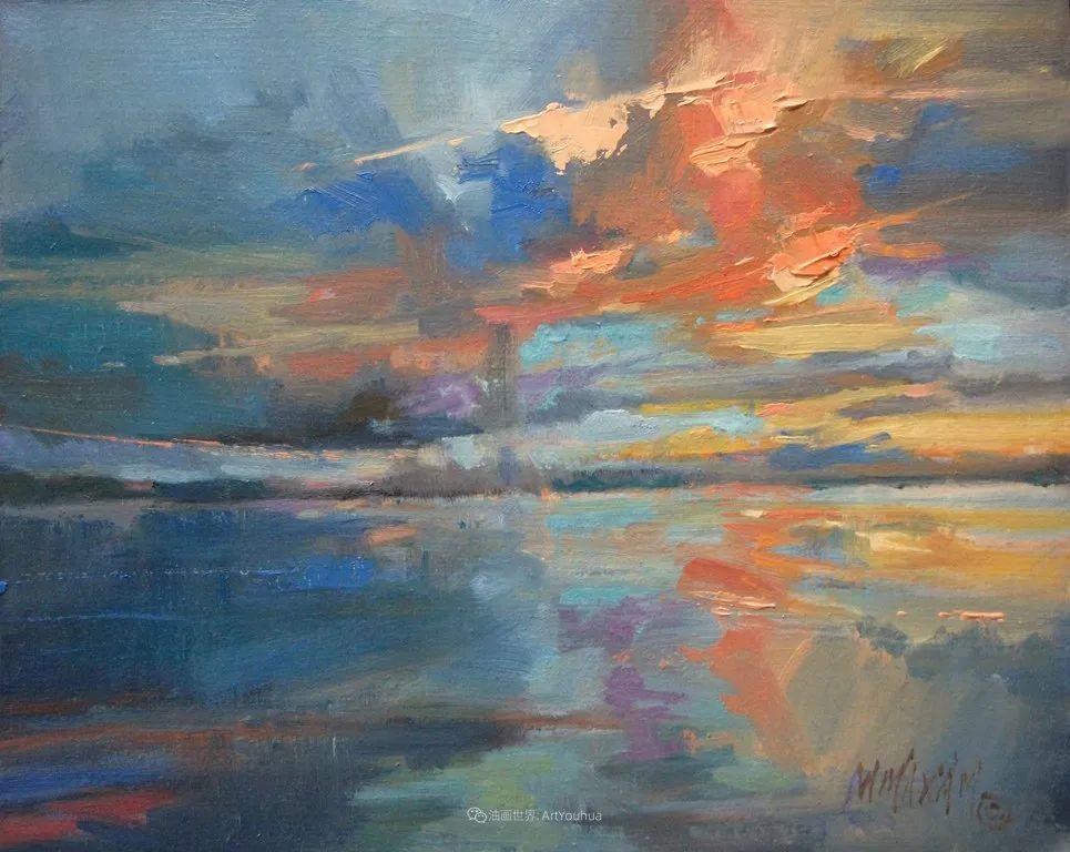 简约多彩的天空,Mary Maxam风景画选插图13