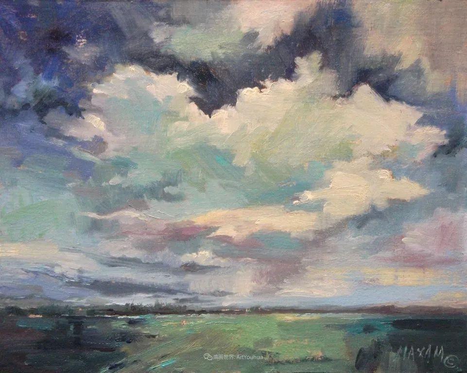 简约多彩的天空,Mary Maxam风景画选插图21