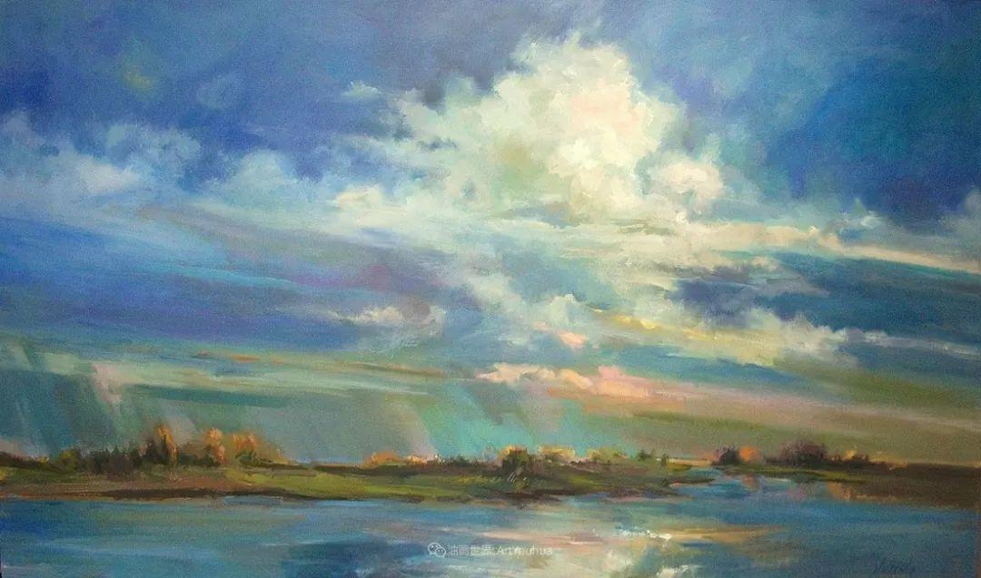 简约多彩的天空,Mary Maxam风景画选插图23