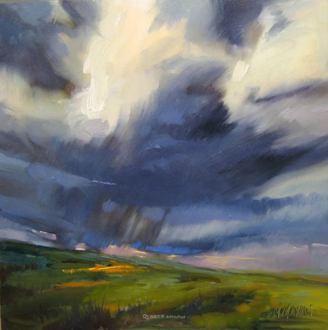 简约多彩的天空,Mary Maxam风景画选插图35
