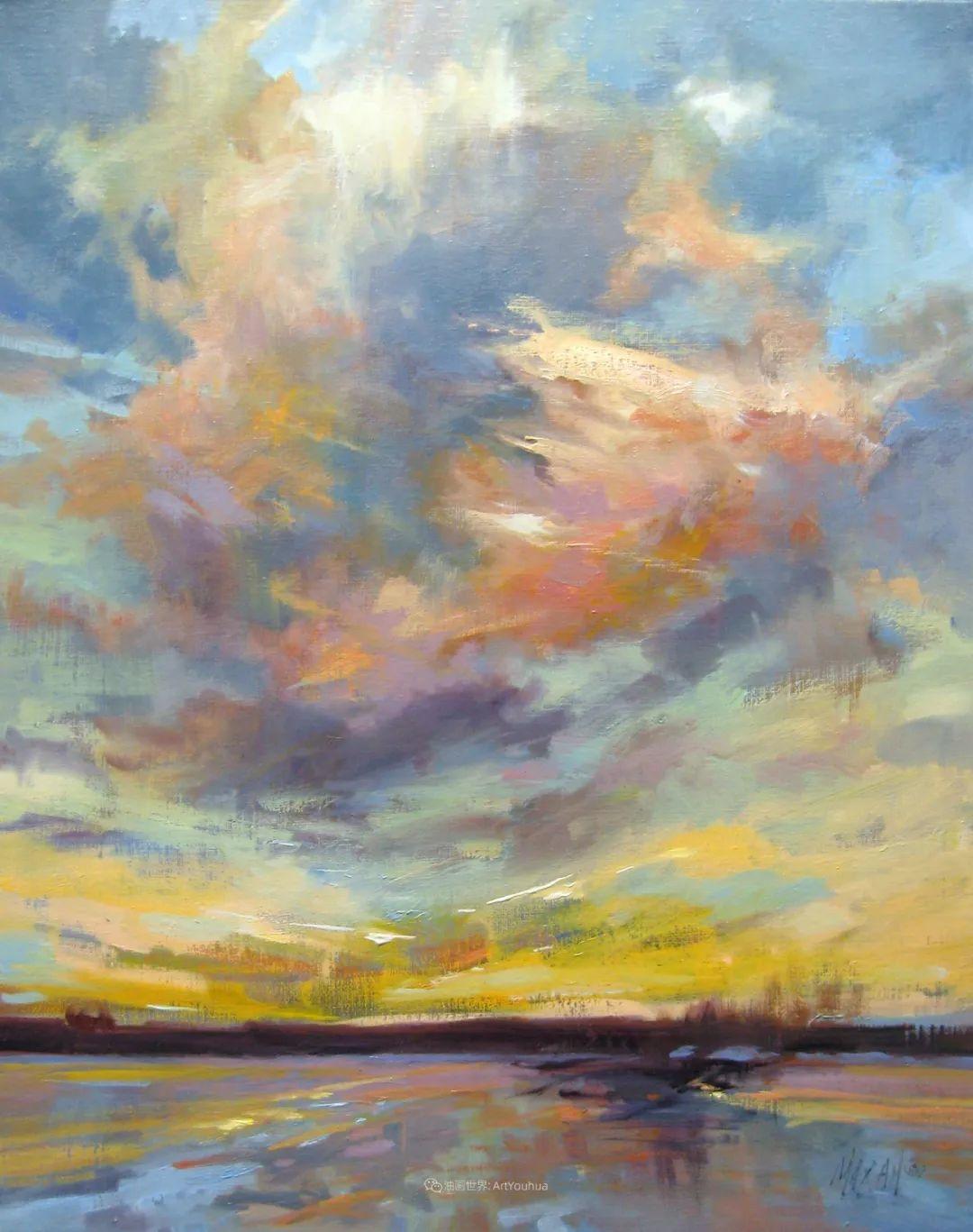 简约多彩的天空,Mary Maxam风景画选插图37