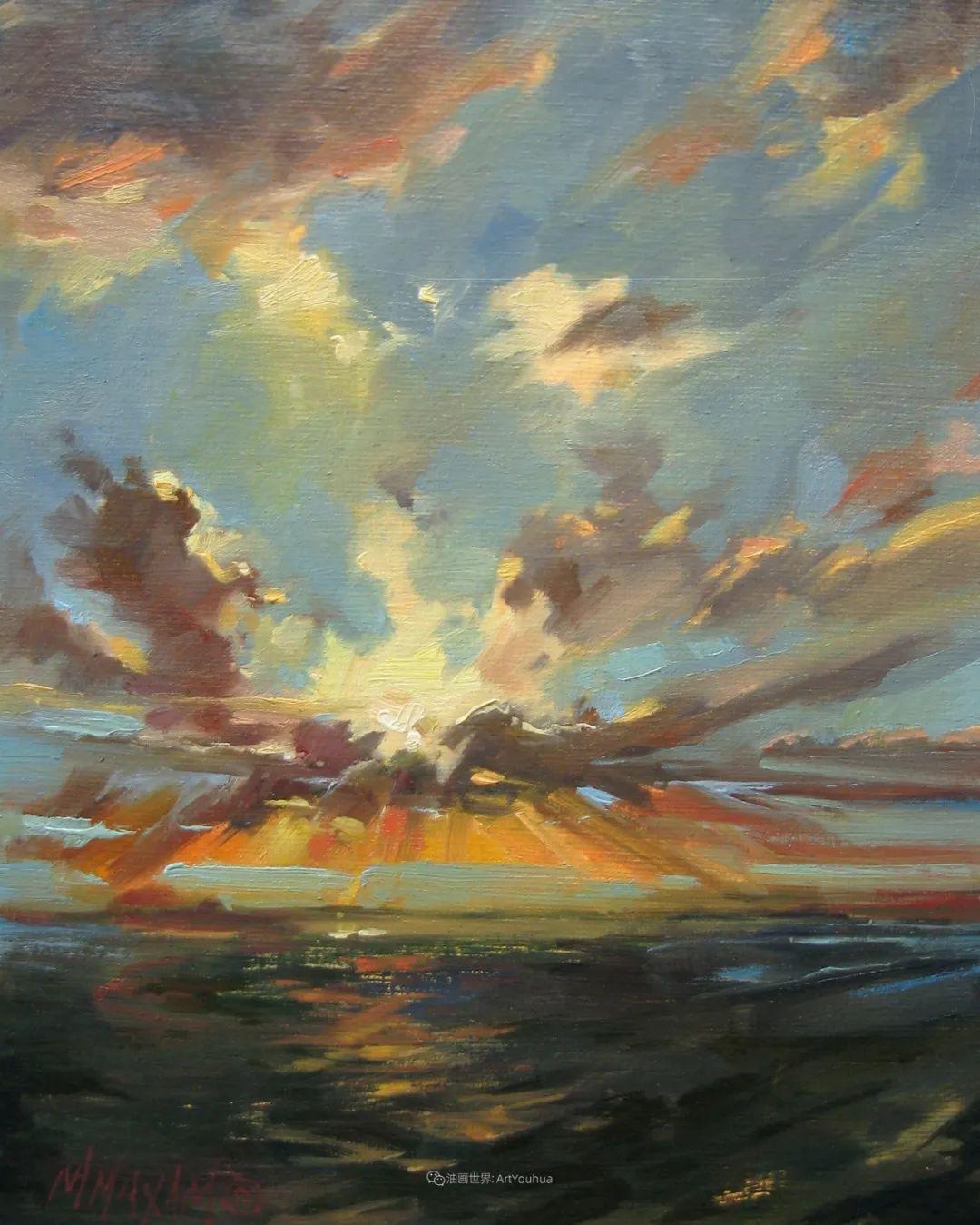 简约多彩的天空,Mary Maxam风景画选插图39