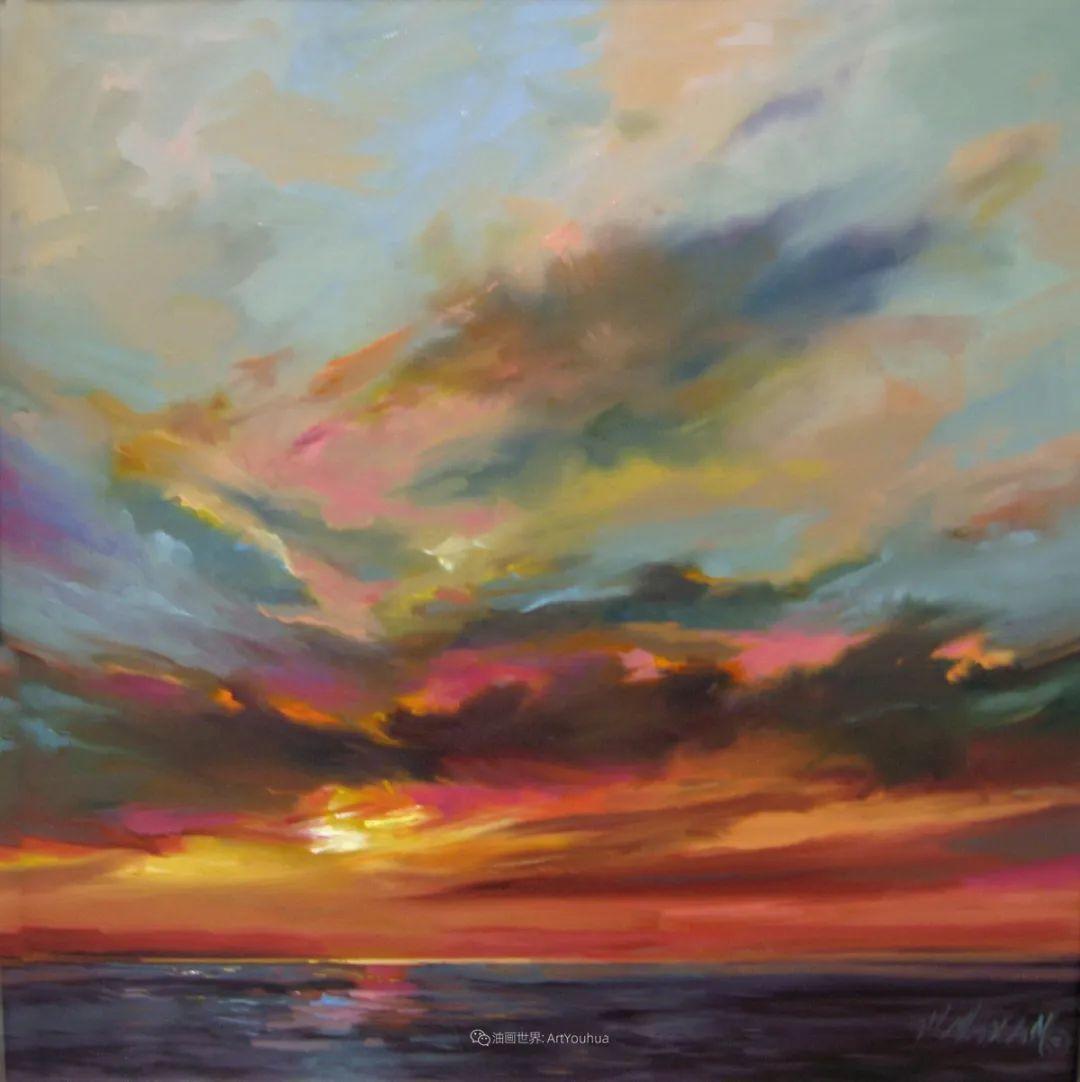 简约多彩的天空,Mary Maxam风景画选插图41