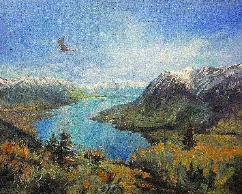 简约多彩的天空,Mary Maxam风景画选插图45