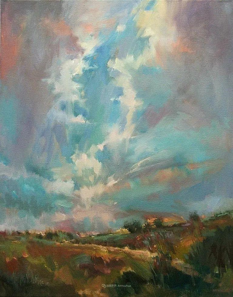 简约多彩的天空,Mary Maxam风景画选插图47