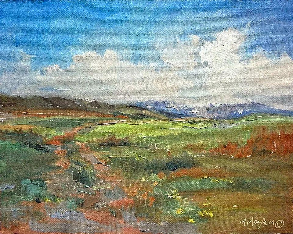 简约多彩的天空,Mary Maxam风景画选插图49