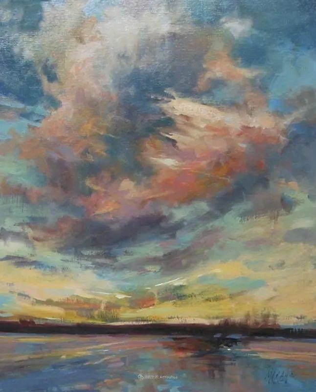 简约多彩的天空,Mary Maxam风景画选插图57