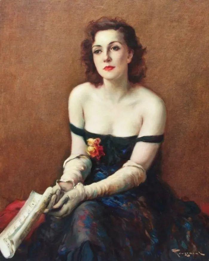 丰富和谐的色调,笔触细腻的女性肖像!插图