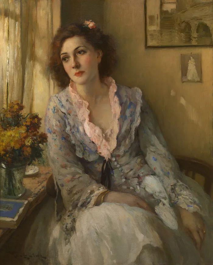 丰富和谐的色调,笔触细腻的女性肖像!插图3