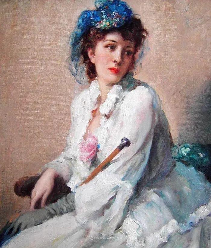 丰富和谐的色调,笔触细腻的女性肖像!插图6