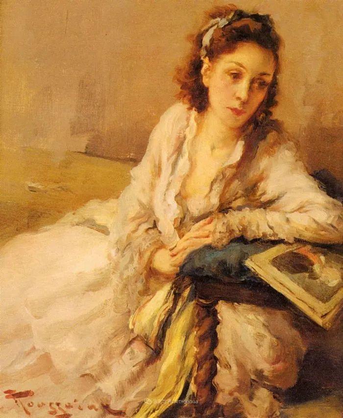 丰富和谐的色调,笔触细腻的女性肖像!插图7