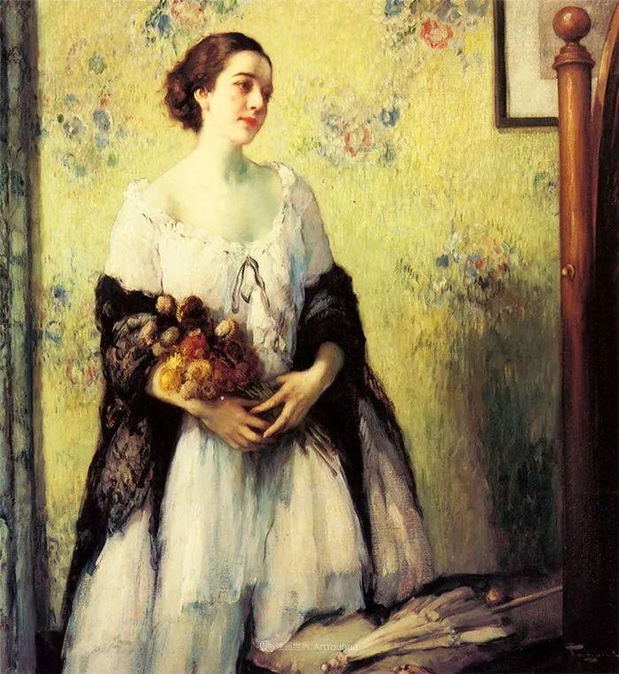 丰富和谐的色调,笔触细腻的女性肖像!插图28