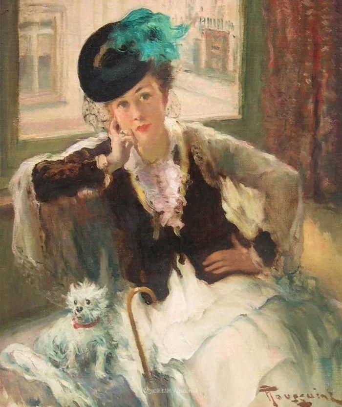 丰富和谐的色调,笔触细腻的女性肖像!插图16