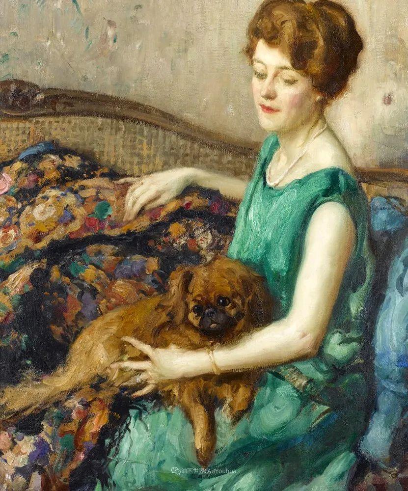 丰富和谐的色调,笔触细腻的女性肖像!插图19