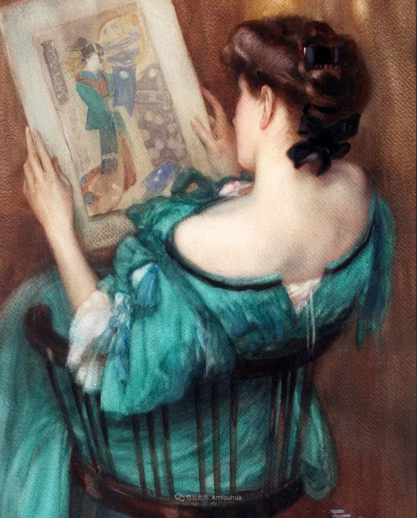 丰富和谐的色调,笔触细腻的女性肖像!插图31