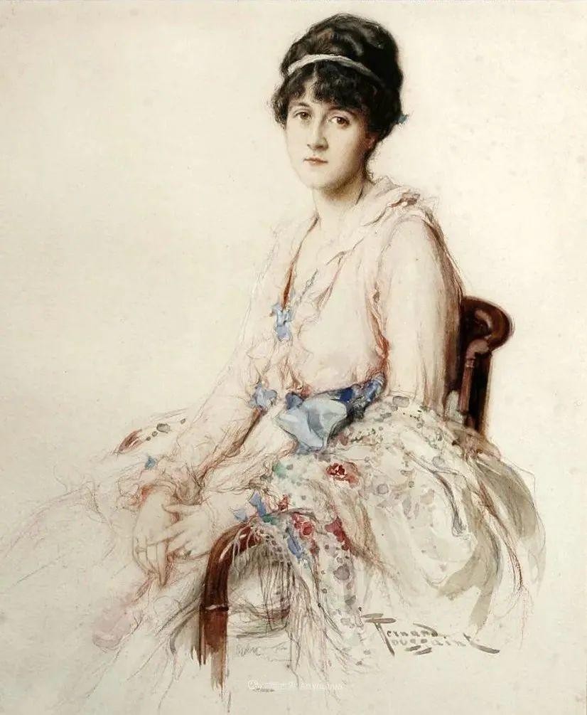 丰富和谐的色调,笔触细腻的女性肖像!插图35