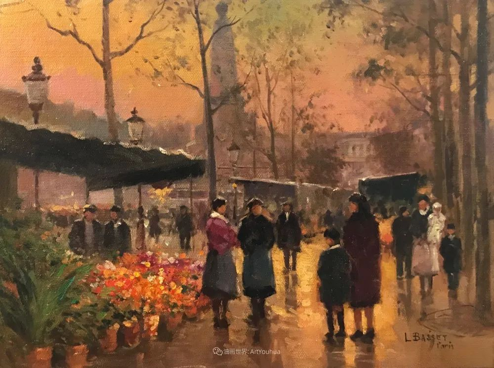 城市里的光,法国画家Louis Basset插图11