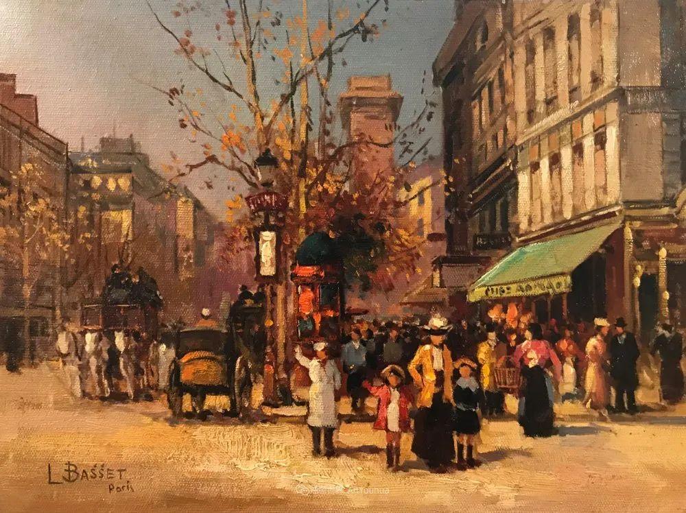 城市里的光,法国画家Louis Basset插图17