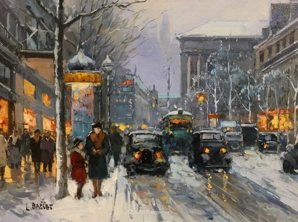 城市里的光,法国画家Louis Basset插图25