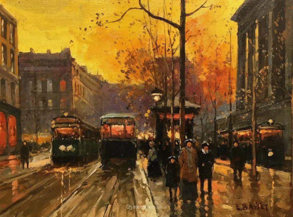 城市里的光,法国画家Louis Basset插图27