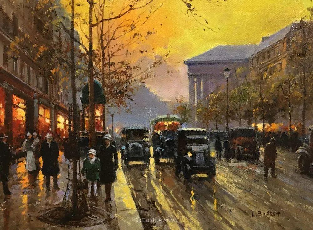 城市里的光,法国画家Louis Basset插图29