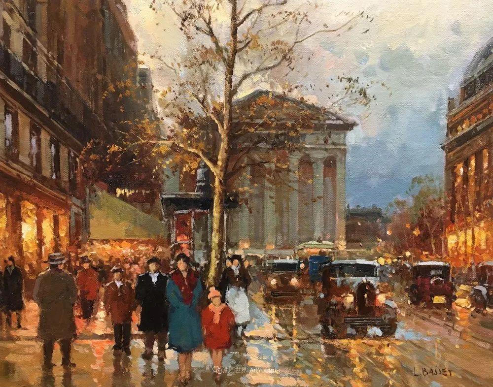 城市里的光,法国画家Louis Basset插图31