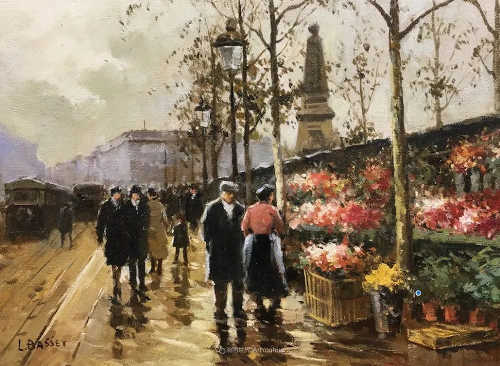 城市里的光,法国画家Louis Basset插图35