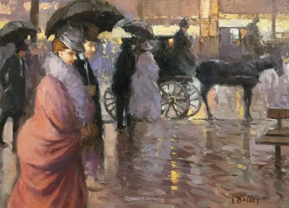 城市里的光,法国画家Louis Basset插图39