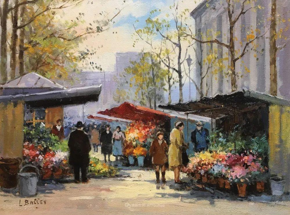 城市里的光,法国画家Louis Basset插图43