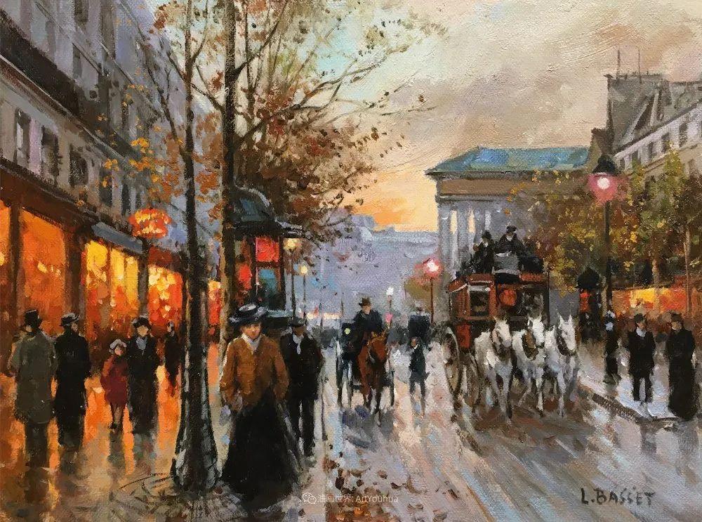 城市里的光,法国画家Louis Basset插图45
