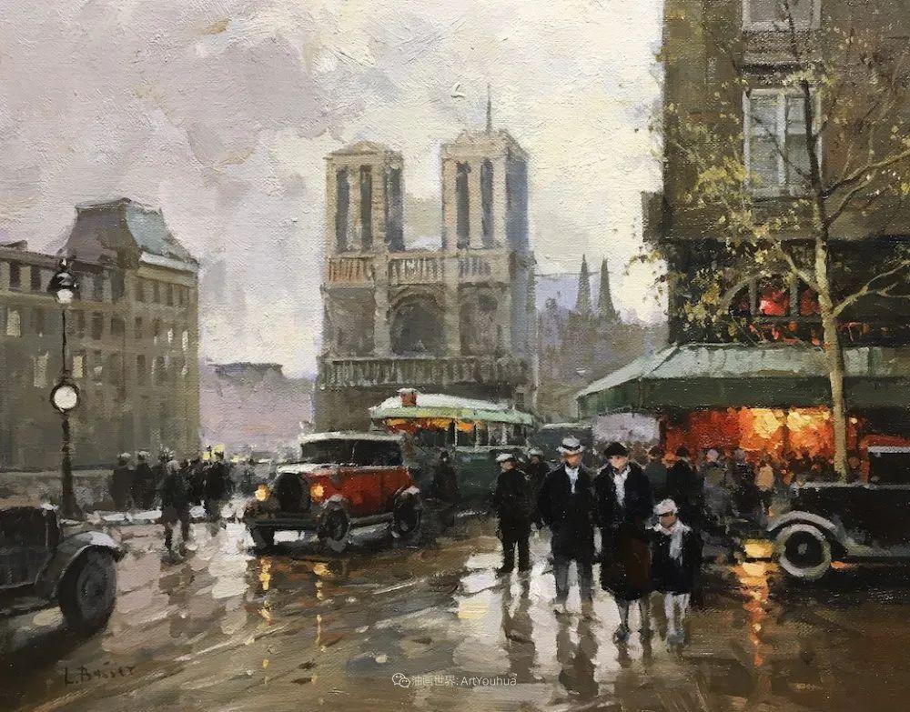 城市里的光,法国画家Louis Basset插图57